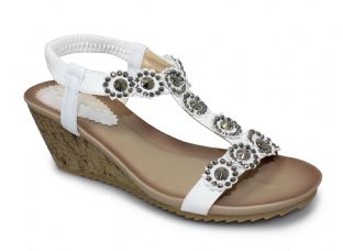 Lunar Womens Cally White Sandals